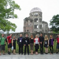 Hiroshima - Group picture at the peace park at the epicentre of the bomb