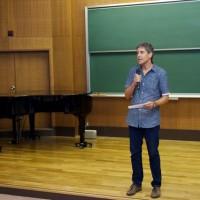 Tokyo - Professor Baden Offord (SCU) speaking at our Tokyo University concert.