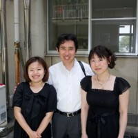 Tokyo / Saitama - Mr Ohmori and staff who also performed at evacuation centre concert.