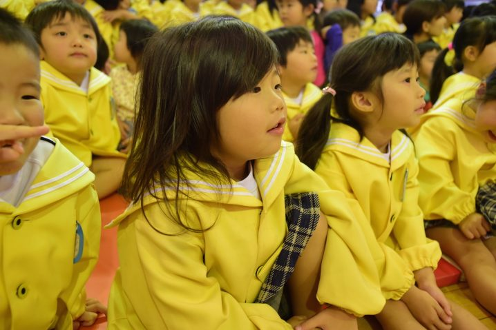 Audience at Shiawase no hoshi nursery School, Fukuoka. (Photo: David Nielsen)