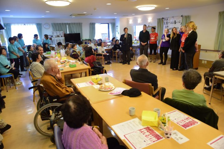 Performance for nursing home residents in Katano City. (Photo: David Nielsen)