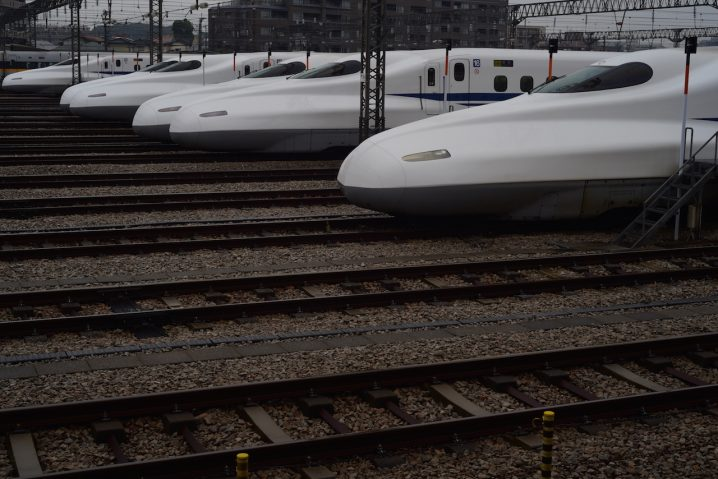 "Japanese bullet trains or ""Shinkansen"" (Photo: David Nielsen)"