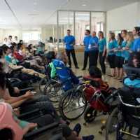 Gifu - Performance for severely disabled residents of Kizawa Memorial Hospital.