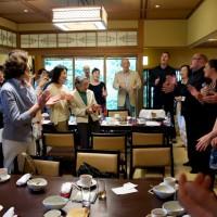 "Takarazuka - Group sing along of ""Sukiyaki"" after fundraising concert and lunch."