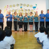 Fukuoka - Kindergarten performance - A highlight of the tour.