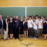 Tokyo - Tokyo university group pic. SCU Chancellor John Dowd on far left.