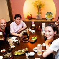 Tokyo - Dinner with the lovely Mr Ohmori. Also a rare instance of Brenden in front of the lens.