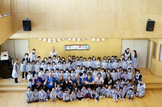 Group photo at Fukushima kindergarten.