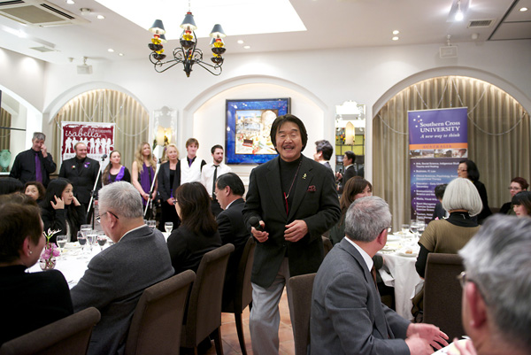 Chef Hiroyuki Sakai at Isabella a cappella La Rochelle Concert