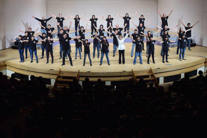 Amazing music and dance performance led by Miyoko Yamasaki, one of our wonderful supporters from Fukuoka.