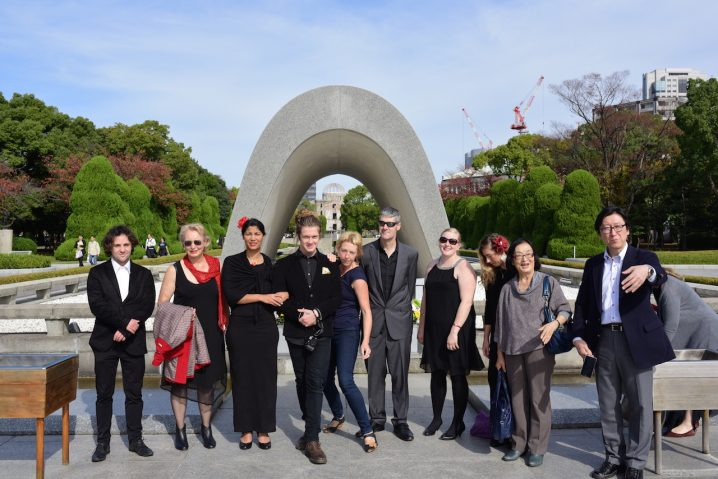 Group at the Hiroshima Peace Park.