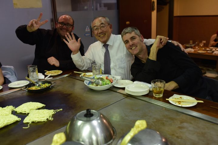 Dinner at great local restaurant. Hosted by longtime supporter Mr Nagano.