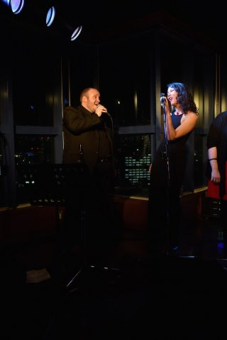 "Jesse and Darya singing ""You Send Me"" at Hiroshima jazz club."