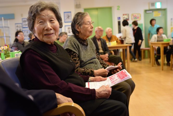 Residents at the first Katano City nursing home performance (Photo: David Nielsen)