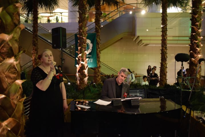 """Dylan and Vanessa perform the Japanese song """"Kimi O Nosete"""" (Photo: David Nielsen)"""